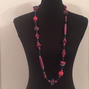 Vintage Multi Color Bead Necklace
